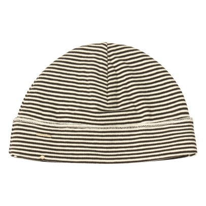 Gray Label Organic Cotton Jersey Striped Baby Bonnet-listing