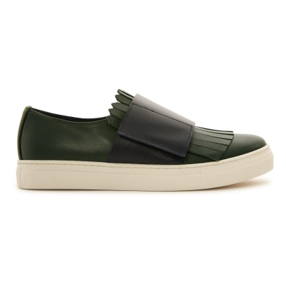 Marni Swilly Fringed Leather Trainers-listing