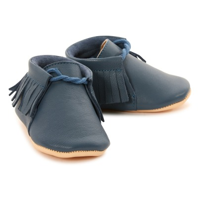 Easy Peasy Meximoo Fringed Moos Slippers-listing