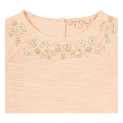 Louise Misha Sujan Ruffled Embroidered Flower Sweatshirt-listing