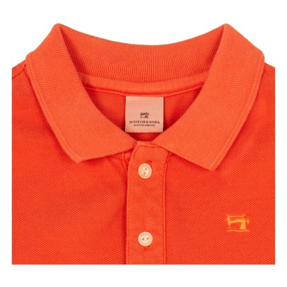 Scotch & Soda Polo Col Délavé-listing