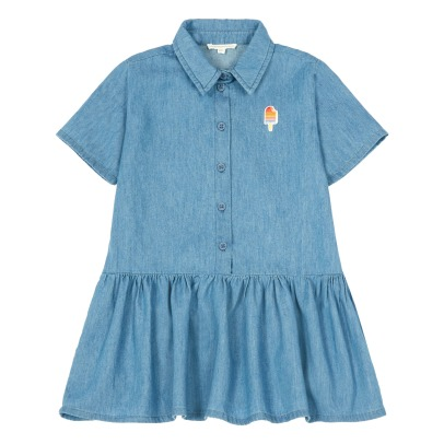 Hundred Pieces Vestido Camisero Chambray Helado-listing