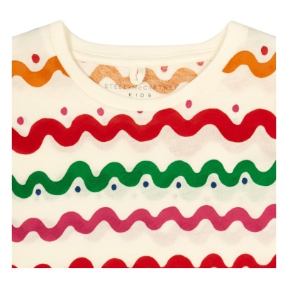 Stella McCartney Kids Millie Bow Side Wave Organic Cotton T-Shirt-listing