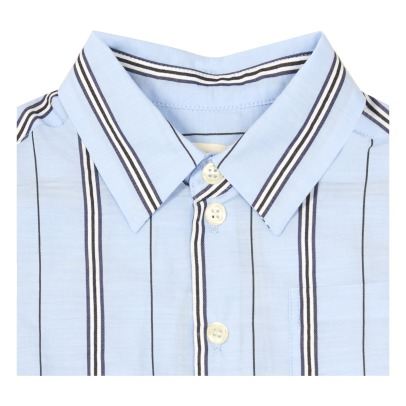 MAAN Soho Striped Short Sleeve Shirt-listing