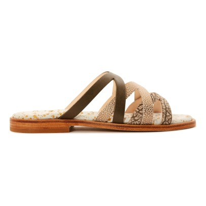 Craie Trop Cross Leather Sandals-listing