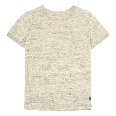 Bellerose Mogo81 Linen Trim Side T-Shirt-listing