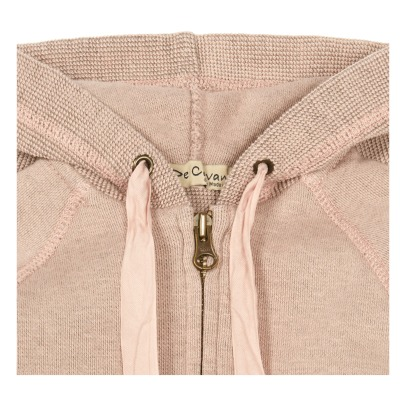 De Cavana Textured Heart Pocket Zip-Up Sweatshirt-listing