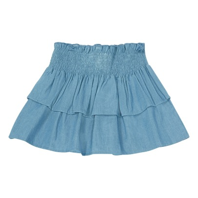 Louis Louise Hello Ruffled Chambray Skirt-listing