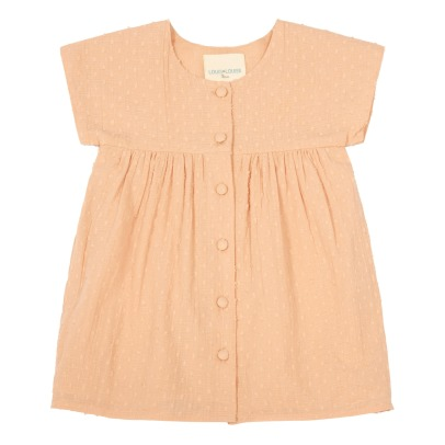 Louis Louise Josette Dobby Spot Buttoned Dress-listing