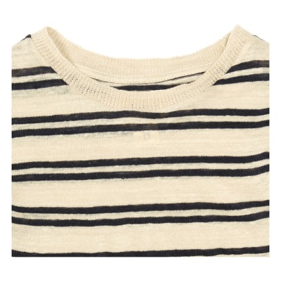 Bellerose Mogo81 Linen Striped T-Shirt-listing