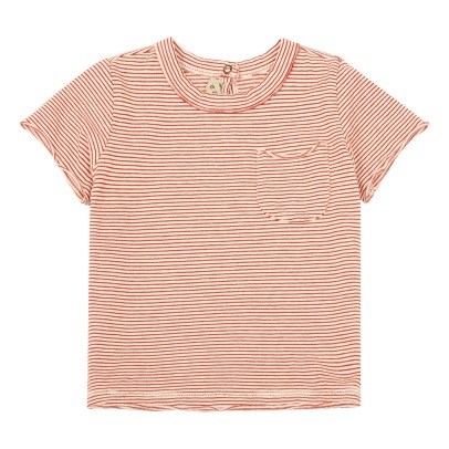 De Cavana Striped Pocket T-Shirt-listing