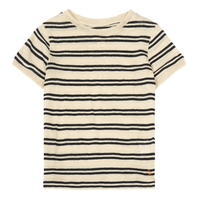 Bellerose T-shirt a righe in lino Mogo81-listing