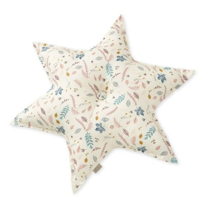 Cam Cam Leaves Organic Cotton Star Cushion D48cm-listing