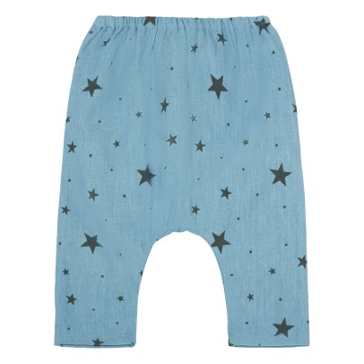 Louis Louise Pantalone in cahmbray motivo stelle Jungles-listing