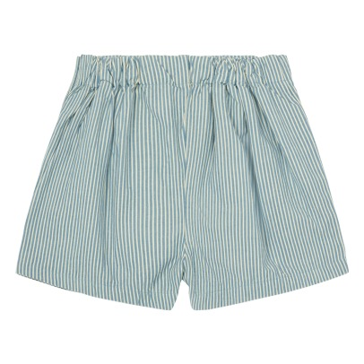 Bonnet à pompon Side Button Striped Shorts-listing