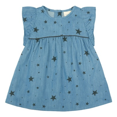 Louis Louise Abito in chambray motivo stelle Bettina-listing
