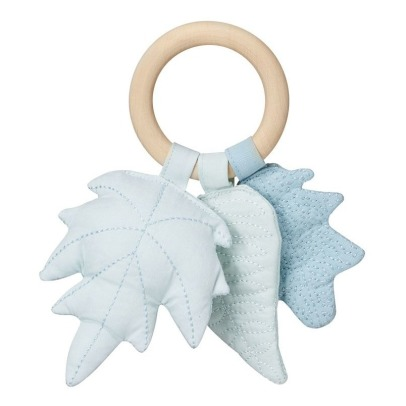 Cam Cam Leaves Wood and Fabric Rattle-listing