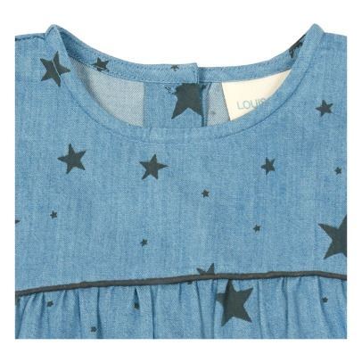 Louis Louise Robe Chambray Etoiles Bettina-listing