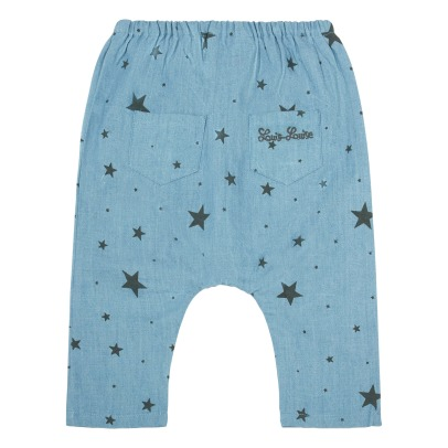 Louis Louise Jungle Star Chambray Harem Trousers-listing