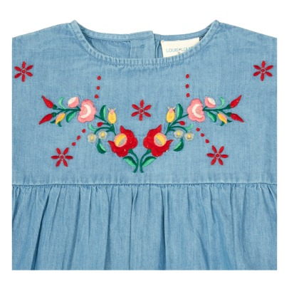 Louis Louise Robe Chambray Brodé Melinda-listing