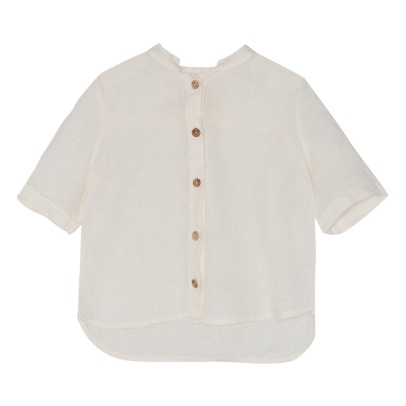 Yellowpelota Neverland Organic Linen Short Sleeve Shirt-listing