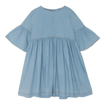 Yellowpelota Flow Ruffled Organic Cotton Dress-listing