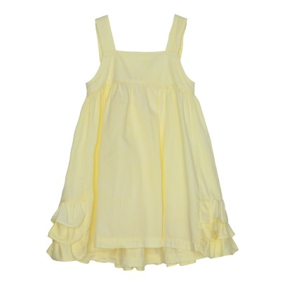 Yellowpelota Wendy Ruffled Organic Cotton Dress-listing