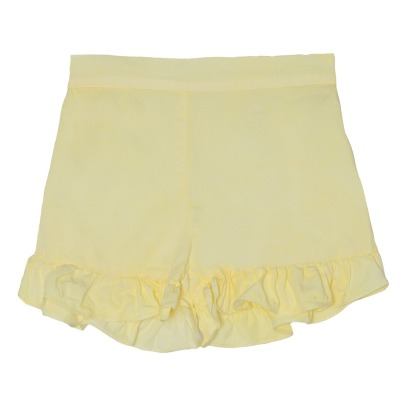 Yellowpelota Tinker Ruffled Organic Cotton Shorts-listing