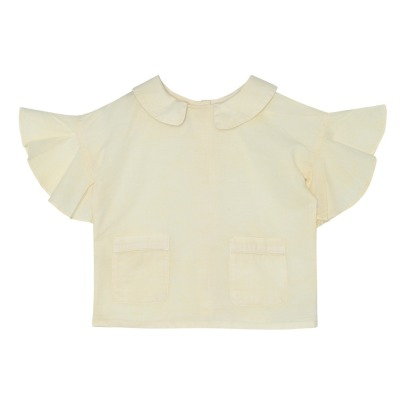 Yellowpelota Fly Dot Organic Cotton Blouse-listing