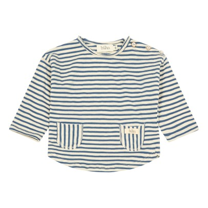 Buho Linus Pocket Striped T-Shirt-listing