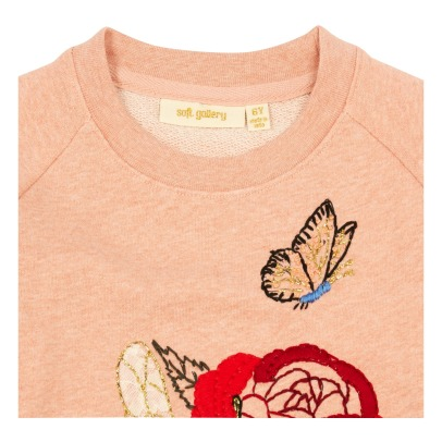 Soft Gallery April Embroidered Flower Sweatshirt-listing