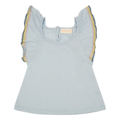 Simple Kids Top Jersey Volants Brodés Sweety-listing
