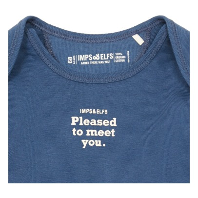 Imps & Elfs Pleased To Meet You Organic Cotton T-Shirt-listing