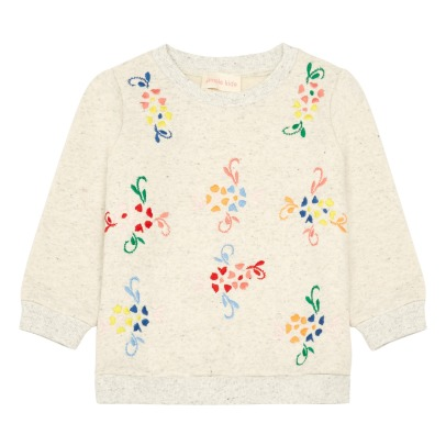 Simple Kids Drop Embroidered Flower Sweatshirt-listing