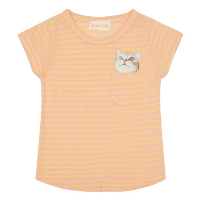 Simple Kids T-shirt a righe con tasca gatto -listing