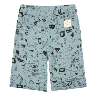 Soft Gallery Austin Graffiti Fleece Shorts-listing