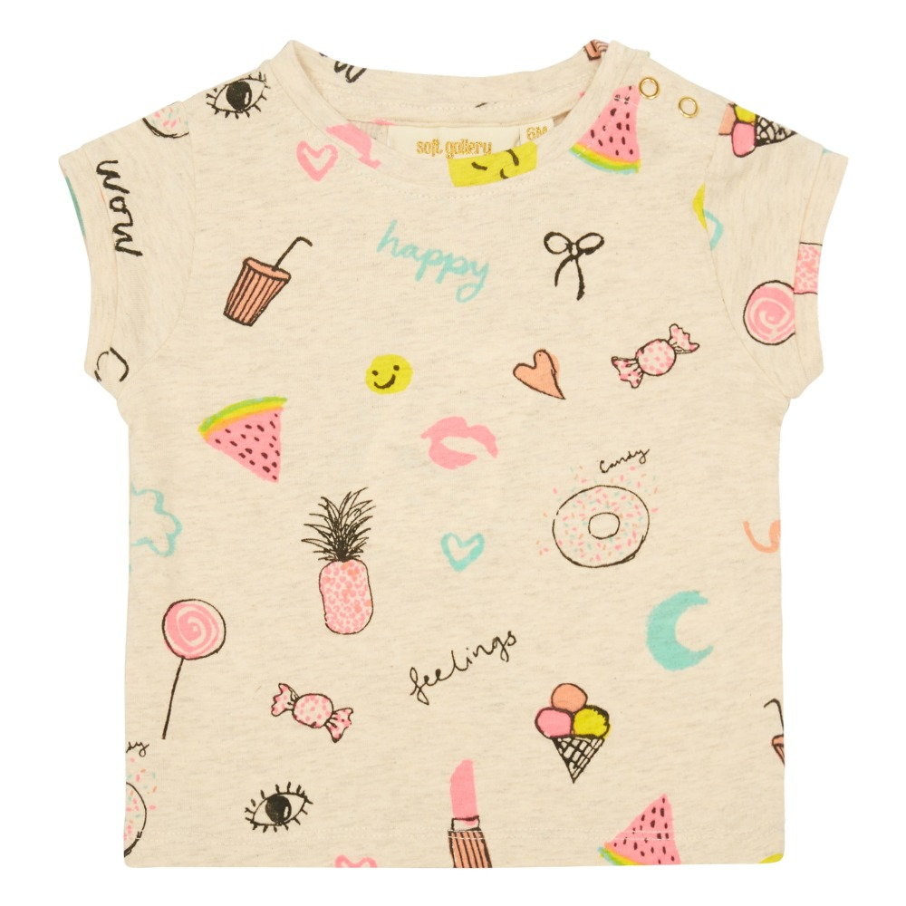 Nelly Sweets T Shirt Heather White Soft Gallery Fashion Baby