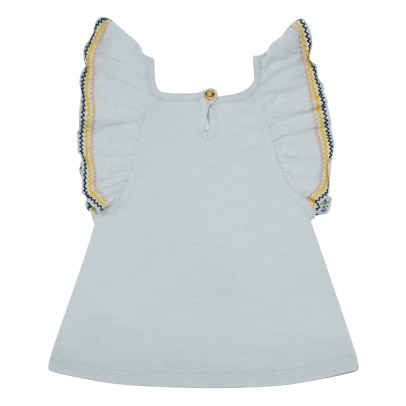 Simple Kids Top in jersey con volants e ricami Sweety -listing