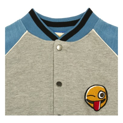 Soft Gallery Angie Embroidered Emoji Baseball Jacket-listing