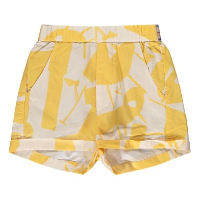 Bellerose Lois Design Printed Shorts with Removable Straps-product