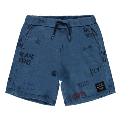 Soft Gallery Alisdair Graffiti Fleece Shorts-listing