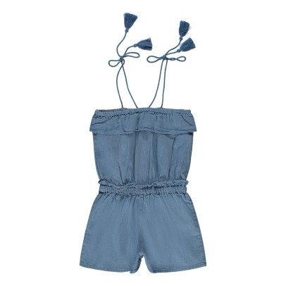 Louis Louise Sandrine Chambray Playsuit-listing