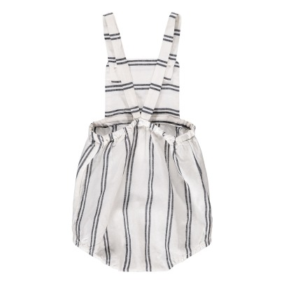 Buho Zebra Stripe Cross Back Romper-listing