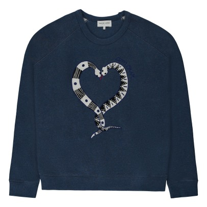 Maison Labiche Sweatshirt Snake Love-Collection- Damenkollektion -listing