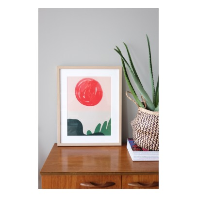Mathilde Cabanas Poster Red sun -listing