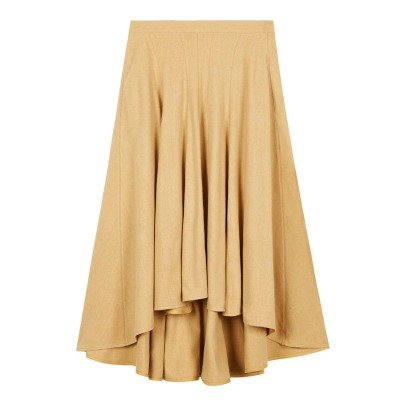 Masscob Silk Noil Maxi Skirt-listing