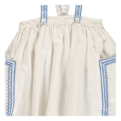 Le Petit Lucas du Tertre Charline Embroidered Skirt With Braces-listing