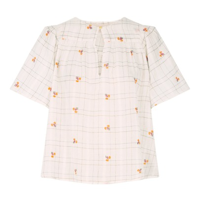 Vanessa Bruno Glory Floral Checked Blouse-listing