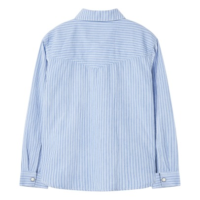 Finger in the nose Dusk Popper Striped Shirt-listing