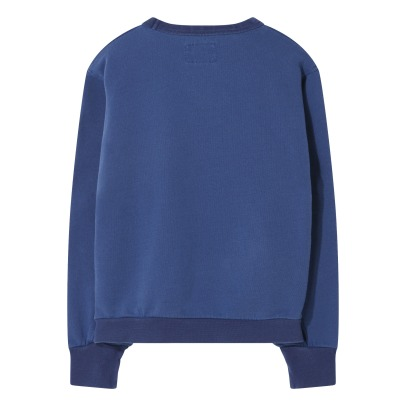 Finger in the nose Brian Dual Material Pocket Round Neck Sweatshirt-listing